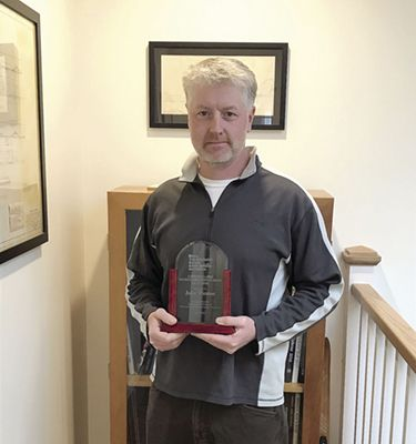 John Weston Recipient of Maine Interscholastic Athletic Administrators Association's Award