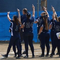 Softball Team Wins Playoff Opener