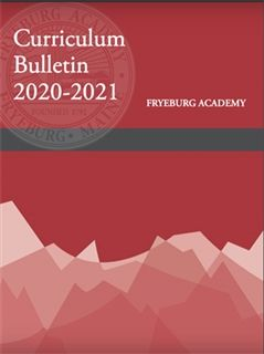 Curriculum Bulletin 2020-21