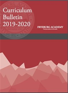 Curriculum Bulletin 2019-2020