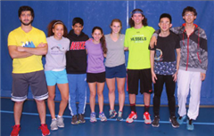 'Seniors on the Fryeburg Academy Indoor Track Team have turned in a number of strong performances this winter.' (Lloyd Jones Photo)