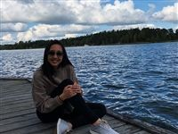 Nicole in Sweden during her study abroad program at the Karolina Institutet