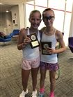 Ellie Tiedemann '24, on the right, finished 2nd in the Sacred Heart Fall Silver US Squash Tournament.
