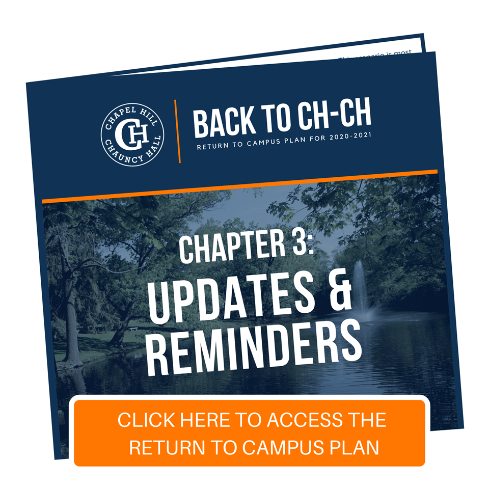 Back to CH-CH: Chapter 3 - Updates and Reminders