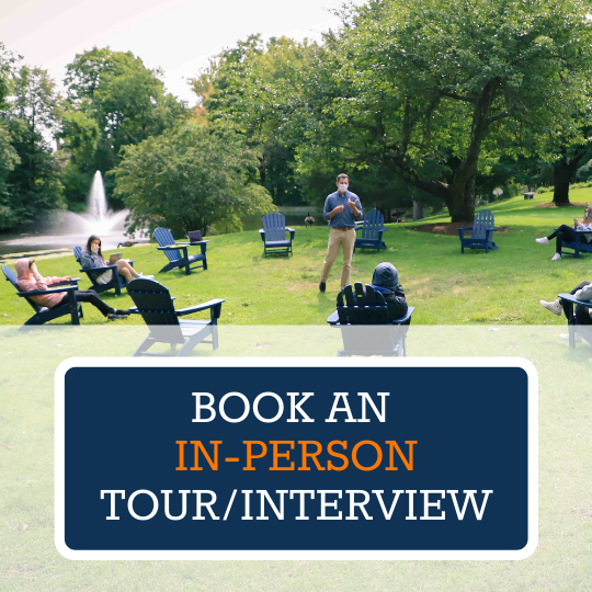Book In-Person Tour/Interview