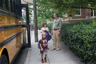 Ease your morning commute to University School of Nashville by having your student ride the bus.