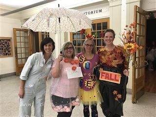Seen at Halloween at USN 2018: the four seasons