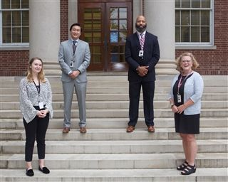 Our Admissions team — Madigan Wheelock, Scott Collins '05, Mike Jones, and Juliet Douglas — look forward to meeting you.