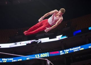 Wooten at the U.S. Gymnastics Championships in August.