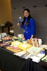 Tea ceremony and sampling at last year's International Fair.