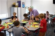 Joel Bezaire teaches pre-algebra to seventh graders.