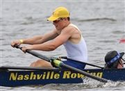 Ethan Herrell '21 at the  at U.S. Rowing Youth Nationals in June.