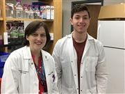 Pathologist and USN parent Vivian Weiss and Mason Lee '20