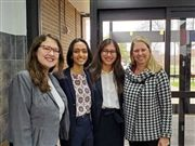 Natalie Wright '21, Somya Singh '21, Erica Friedman '21, and HS Science Teacher Anne Dervan