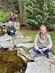 Lower School Naturalist Teacher Lauren Hagan with her predecessors and mentors Cynthia Lee and Lisa Preston.