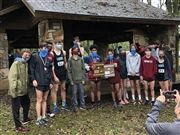 The High School Cross Country team at the 2020 State Meet.
