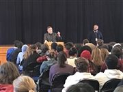Tim Wise speaks during Assembly on Wednesday, Jan. 16.