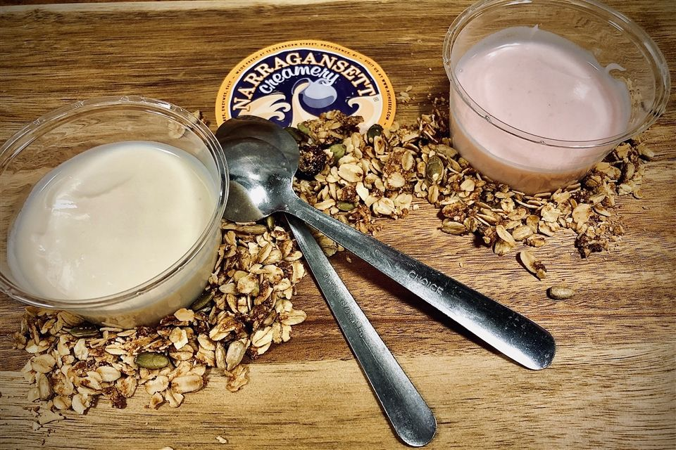 Yogurt from Narragansett Creamery.