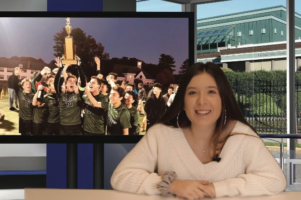 Haleigh Jacobs '23 anchors Gator Nation News in 2019.