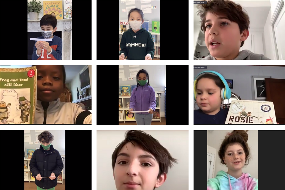 Students shared their grade-level community service projects during a special virtual Share assembly.