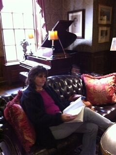 Reading my textbook from the Marketing and Advancement Institute at the Harvard University Faculty Club.