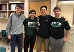 Matthew Siff '20, Arthur Delot-Vilain '21, Alex Moon '20 , and Nathaniel Rosenberg '20 with the Quizbowl trophy.