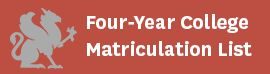 Four-Year Matriculation List