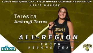 Ambrogi-Torres earns Field Hockey All-Region Recognition.