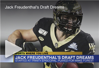 Trinity Episcopal, Wake Forest product Jack Freudenthal nearing NFL dreams