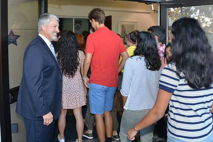 Berkeley Headmaster Welcomes Students Back to School