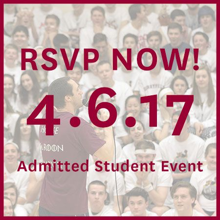 RSVP to Upper School Admitted Student Event