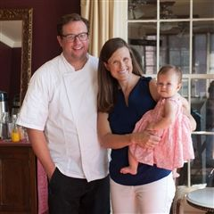 Adam and Lori Evans Alderin with their daughter Lydia.