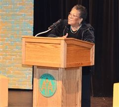 Poet Marilyn Nelson spoke to Upper School students regarding the poetic imagination as part of the English Department's annual Visiting Writers program.