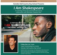 'I Am Shakespeare' is part of the Beckerman Lecture Series