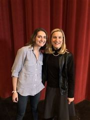 Upper School Librarian with Author Ruta Sepetys