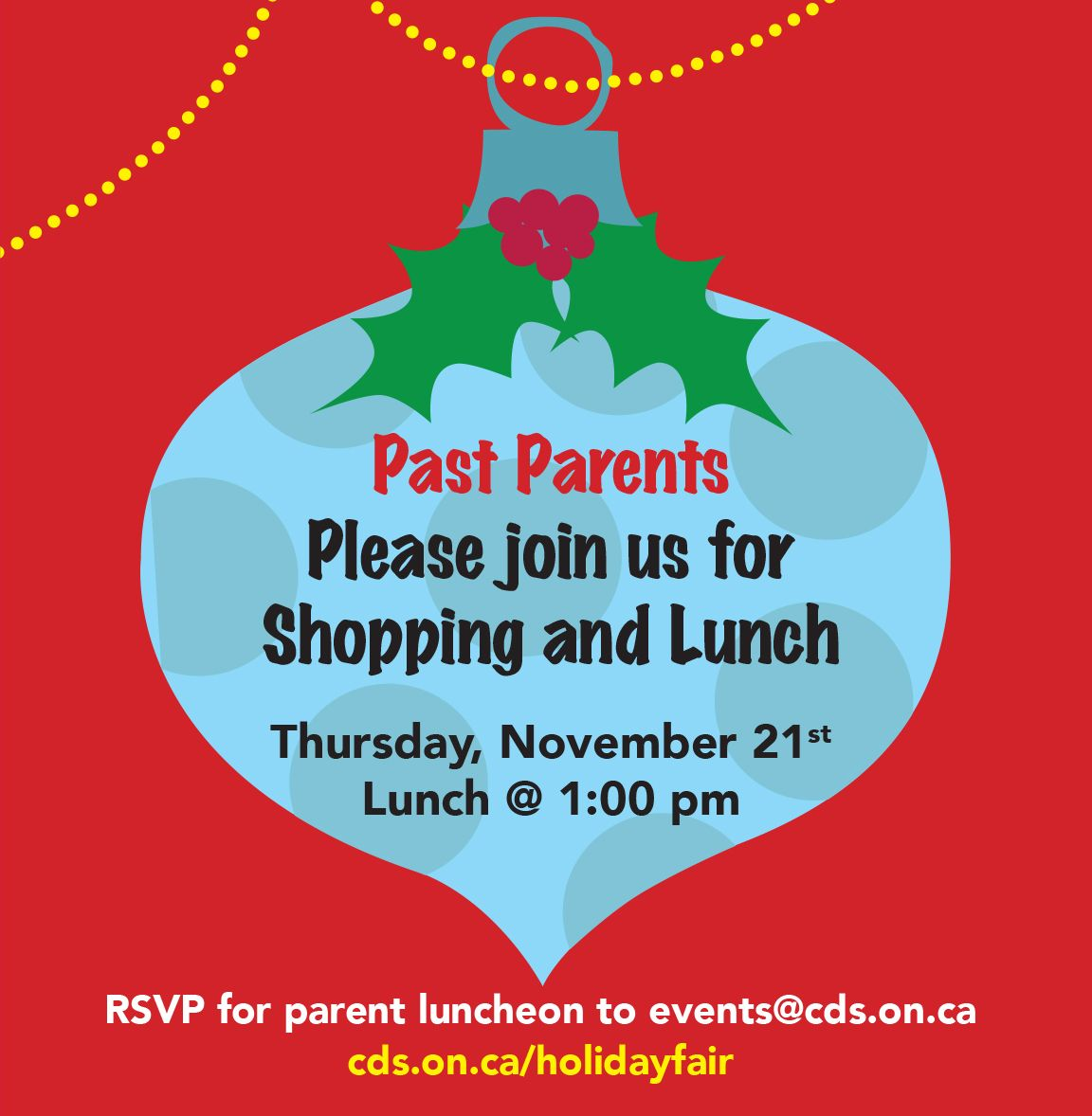 Past Parent Luncheon Postcard