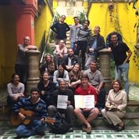 Teacher Shaina Longway with a group in Mexico.