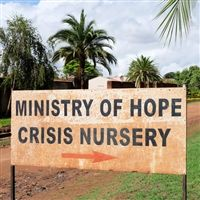 Photo of the Ministry of Hope Crisis Nursery sign.