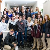 Group photo of Severn School students with French exchange students.