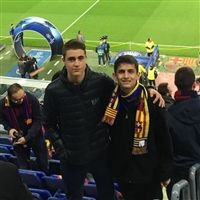 Severn School student at a soccer match in Spain.