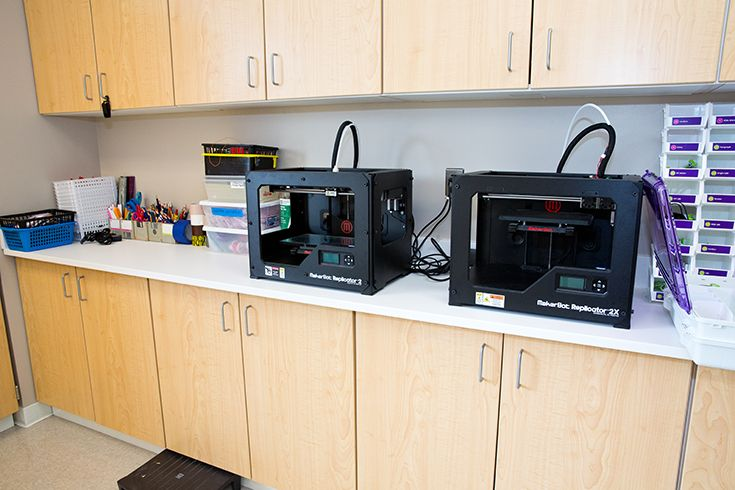 3D printers and other technology materials in Severn Lower School maker lab