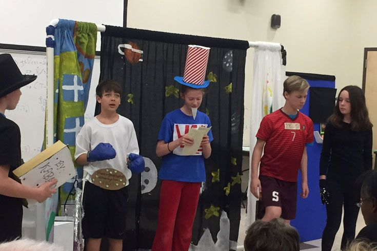 6th Grade Destination Imagination team performs at the state tournament.