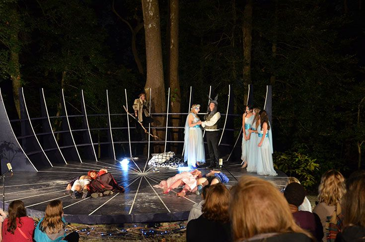 Severn students use the environmental center for all types of projects including an outdoor performance of Midsummer Night's Dream.