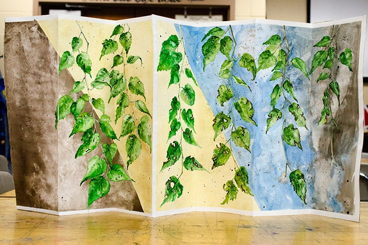 "Sample art project showing leaves changing over time."" width="