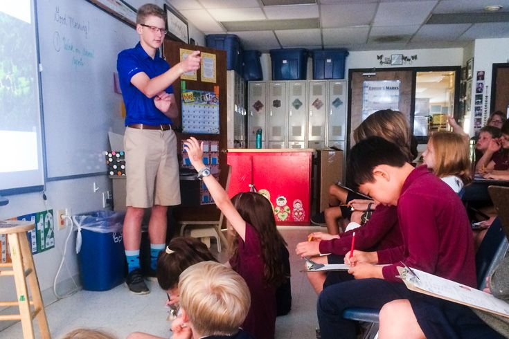 Severn School student teaches younger students