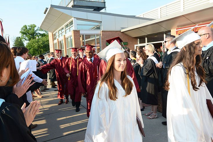 Severn School high school students at graduation.