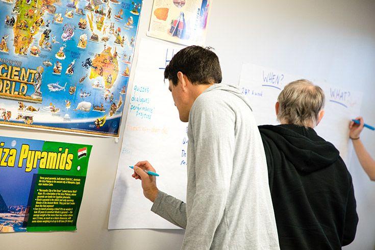 Severn School working in professional development workshops