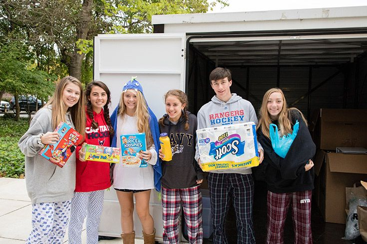Severn School students donate over 10,000 items to SPAN.