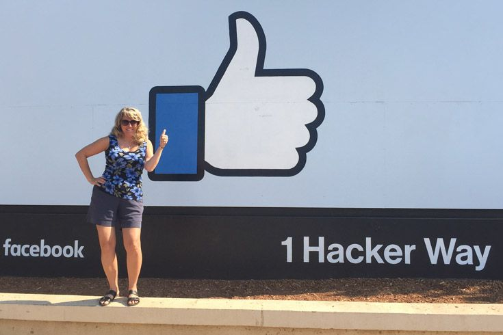 Severn School teacher at Facebook HQ.