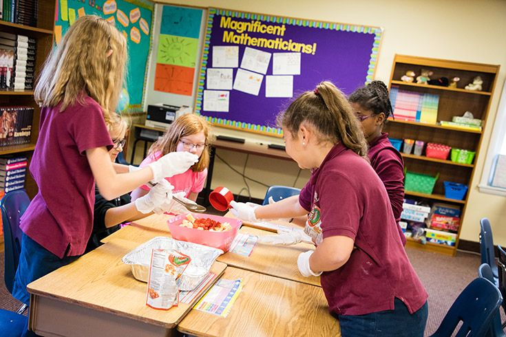 Severn school students making meals to donate